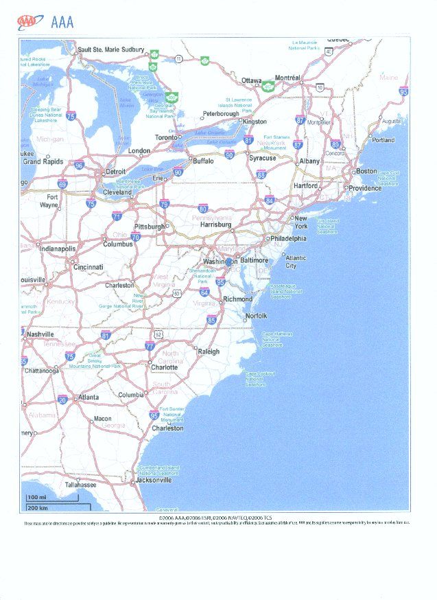 East Coast Rivers Map  MAP